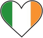 Bandierina irlandese del cuore Fotografie Stock Libere da Diritti