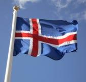 Bandierina islandese Fotografia Stock Libera da Diritti