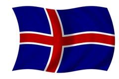 Bandierina islandese Fotografie Stock Libere da Diritti