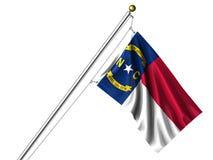 Bandierina isolata del North Carolina illustrazione vettoriale