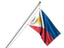 Bandierina isolata delle Filippine Fotografia Stock Libera da Diritti