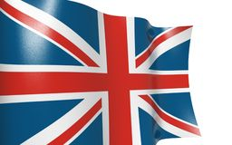 Bandierina isolata Regno Unito - bandierina d'ondeggiamento Regno Unito Immagini Stock