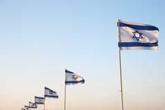 Bandierina israeliana Immagini Stock