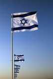 Bandierina israeliana Fotografie Stock Libere da Diritti