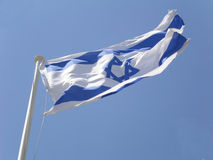 Bandierina israeliana Fotografia Stock Libera da Diritti