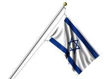 Bandierina israeliana isolata Fotografia Stock Libera da Diritti