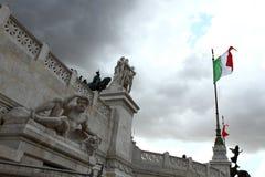 Bandierina italiana Immagini Stock Libere da Diritti