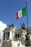 Bandierina italiana Fotografia Stock