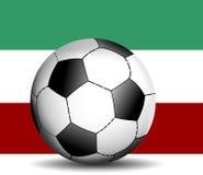 Bandierina italiana con la bandierina della sfera di calcio Immagini Stock Libere da Diritti