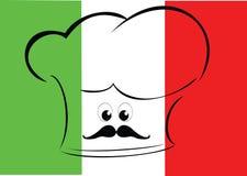 Bandierina italiana del cuoco unico Fotografia Stock Libera da Diritti