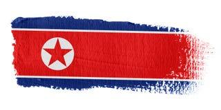 Bandierina Korea di Nord di Brushstroke Immagine Stock Libera da Diritti