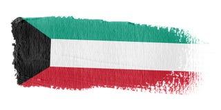 Bandierina Kuwait di Brushstroke Fotografia Stock Libera da Diritti
