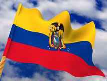 Bandierina. L'Ecuador immagini stock libere da diritti