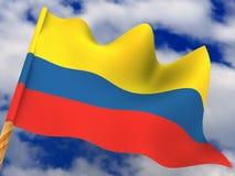 Bandierina. La Colombia fotografie stock