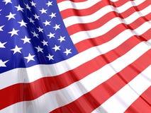 Bandierina lucida degli S.U.A. Immagini Stock