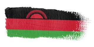 Bandierina Malawi di Brushstroke Fotografie Stock