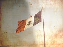 Bandierina messicana invecchiata Immagini Stock
