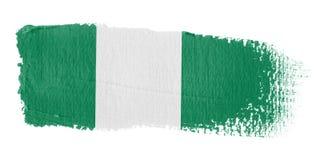 Bandierina Nigeria di Brushstroke Fotografia Stock