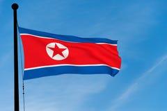 Bandierina nordcoreana Immagini Stock Libere da Diritti