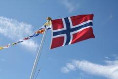 Bandierina norvegese immagine stock
