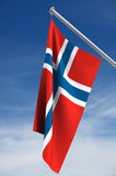 Bandierina norvegese Fotografie Stock Libere da Diritti