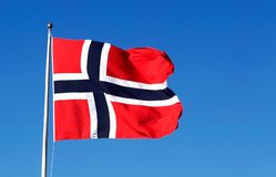 Bandierina norvegese Fotografie Stock