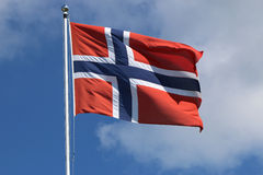 Bandierina norvegese Immagine Stock Libera da Diritti