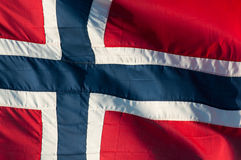 Bandierina norvegese Fotografia Stock Libera da Diritti