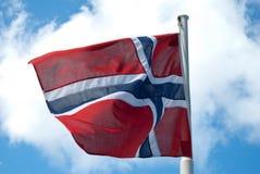 Bandierina norvegese Fotografia Stock