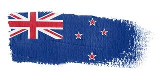 Bandierina Nuova Zelanda di Brushstroke Fotografia Stock