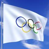 Bandierina olimpica Immagini Stock Libere da Diritti