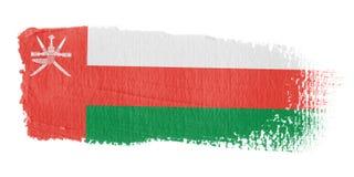 Bandierina Oman di Brushstroke Fotografia Stock Libera da Diritti