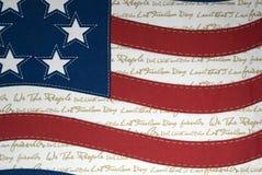 Bandierina patriottica Fotografie Stock