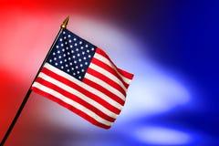 Bandierina patriottica degli Stati Uniti dell'americano con le stelle e le bande Fotografia Stock Libera da Diritti