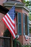 Bandierina patriottica del portico Fotografie Stock Libere da Diritti