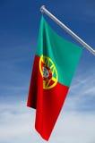 Bandierina portoghese Fotografie Stock Libere da Diritti