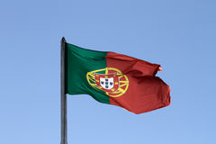 Bandierina portoghese Immagine Stock