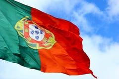 Bandierina portoghese Immagini Stock