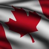 Bandierina quadrata canadese resa Immagine Stock Libera da Diritti