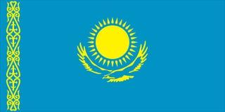 Bandierina Republik di Kazakstan Immagini Stock