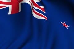 Bandierina resa della Nuova Zelanda Immagine Stock Libera da Diritti