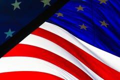 Bandierina rossa, bianca e blu Fotografia Stock Libera da Diritti