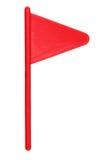 Bandierina rossa di golf Fotografia Stock