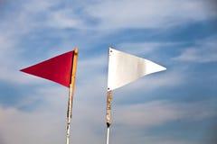 Bandierina rossa e bianca Fotografia Stock Libera da Diritti