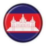 Bandierina rotonda del tasto americano della Cambogia Fotografia Stock