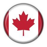 Bandierina rotonda del tasto del Canada Fotografia Stock