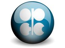 Bandierina rotonda dell'OPEC Fotografia Stock