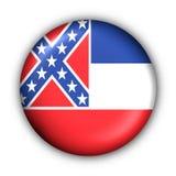 Bandierina rotonda della condizione degli S.U.A. del tasto del Mississippi Fotografie Stock