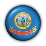 Bandierina rotonda della condizione degli S.U.A. del tasto dell'Idaho Immagini Stock Libere da Diritti