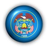Bandierina rotonda della condizione degli S.U.A. del tasto dell'Utah illustrazione di stock